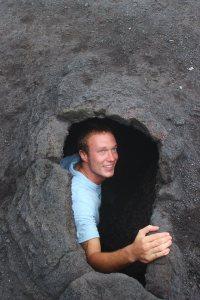 guatemala volcano selfie